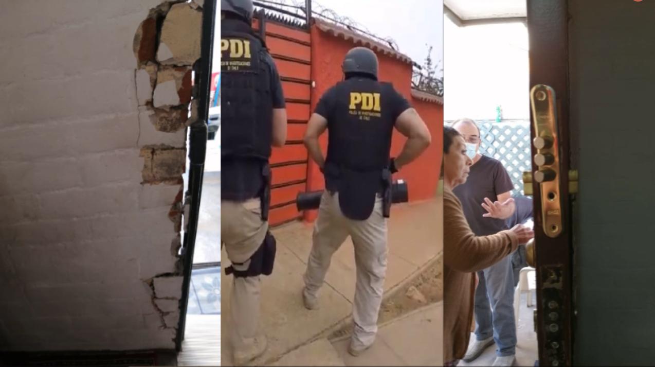 PDI allanó de madrugada «por error» violentamente casa en Maipú con solo adultas mayores en su interior