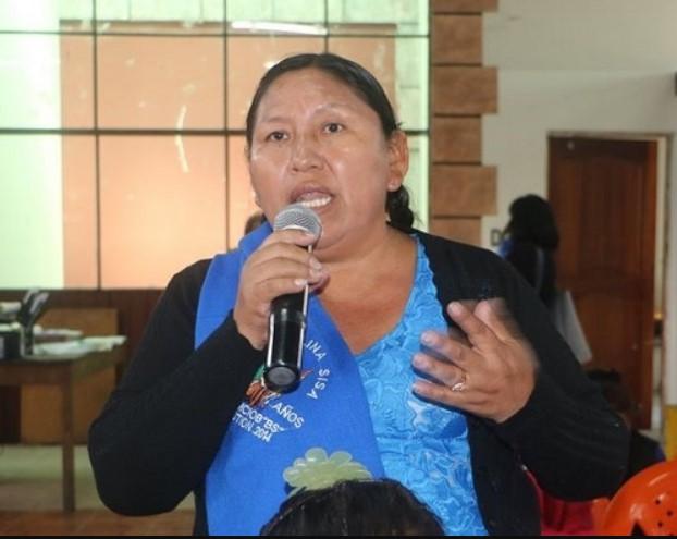 """María Muñoz, dirigente social de Bolivia: """"Las organizaciones sociales nunca nos vamos a rendir"""""""