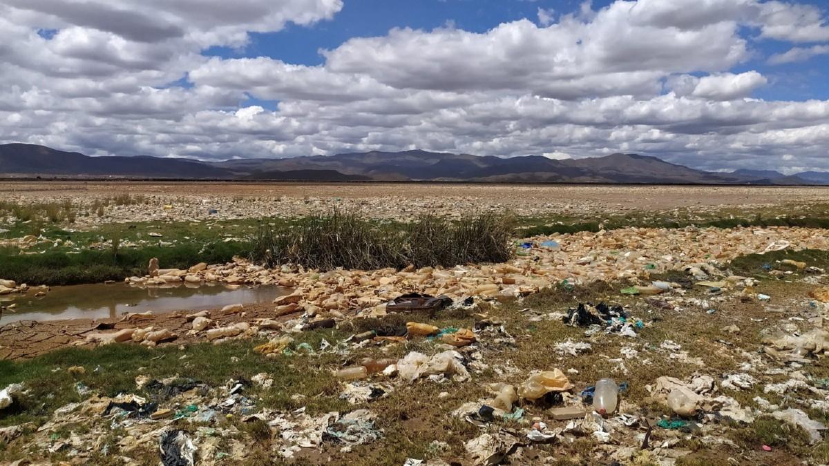 Ecologista francés encabeza campaña por limpieza del lago Uru Uru en Bolivia