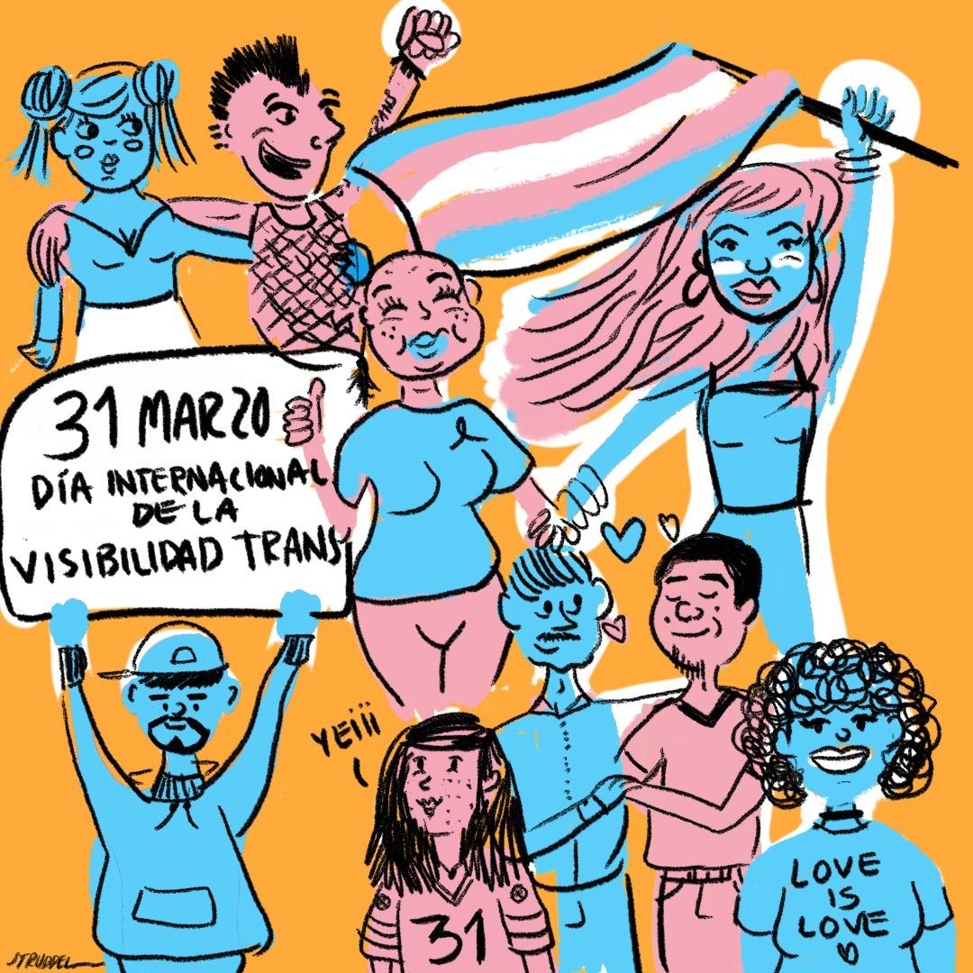 Con un ciclorama, celebran el Día de la Visibilidad Trans