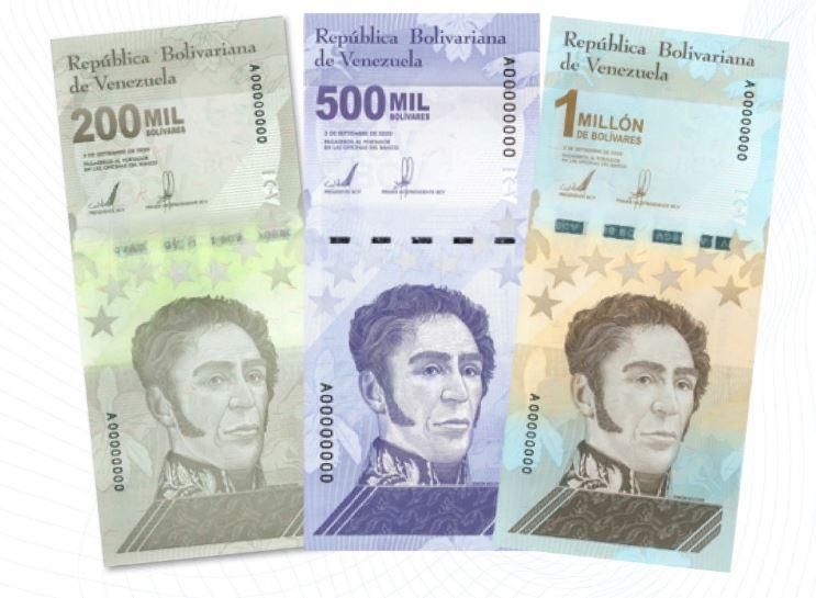 Banco Central de Venezuela incorpora tres nuevos billetes a su cono monetario