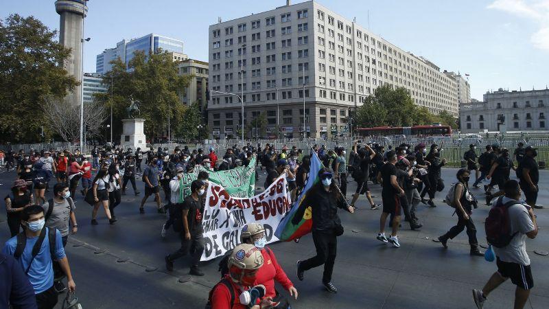 Regresaron a la Alameda las movilizaciones de estudiantes secundarios