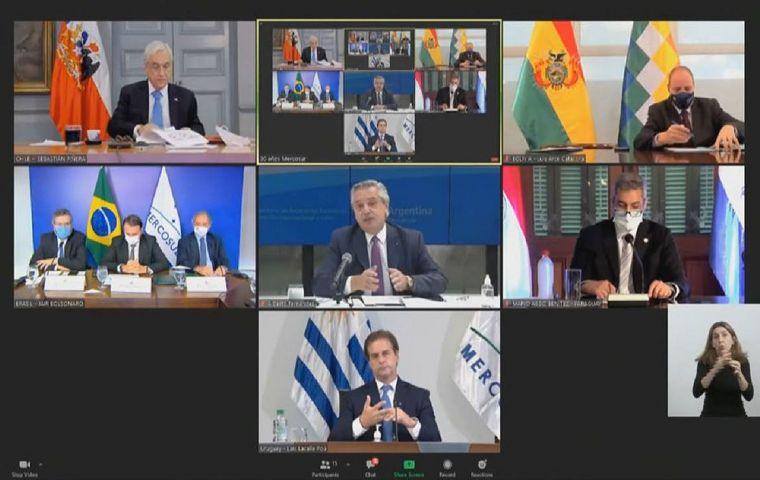 Cumbre de Mercosur: Brasil, Uruguay y Paraguay quieren más flexibilidad para negociar acuerdos comerciales