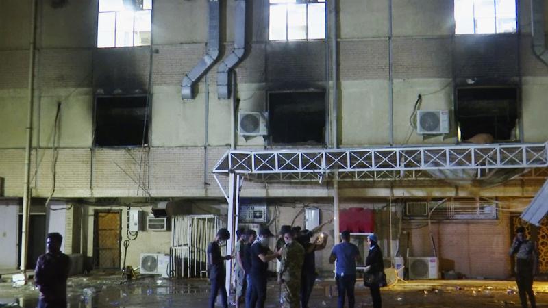 82 muertos y 110 heridos tras incendio en hospital de Irak que atendía pacientes con Covid-19