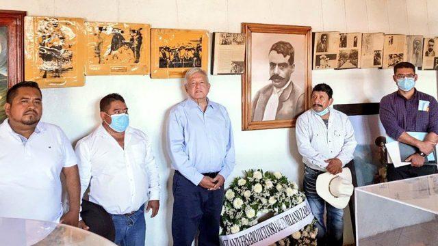 Visita de AMLO por aniversario de zapata