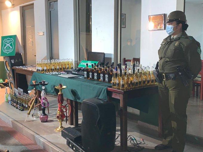 24 detenidos en Pirque por participar en fiesta clandestina en local de sushi