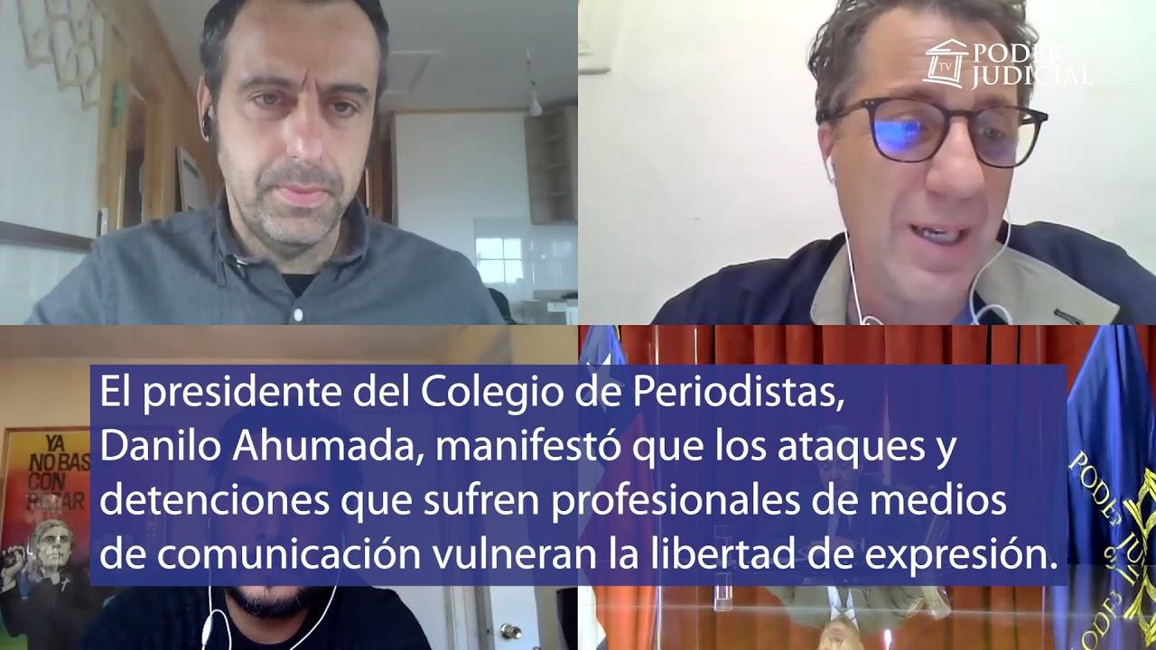 Directiva del Colegio de Periodistas se reunió con presidente de la Suprema por agresiones de Carabineros a la prensa