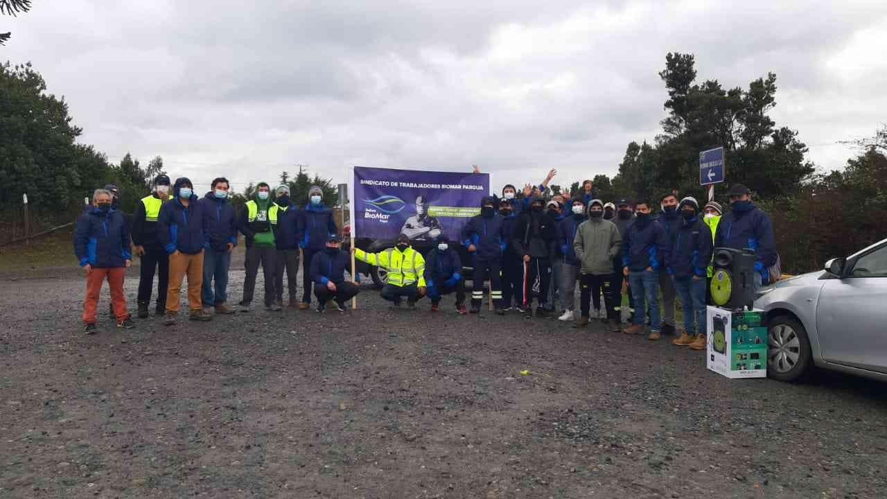 Sindicato de salmonera BioMar en Calbuco cumplió 12 días en huelga: Empresa ofrece reajuste de 20 mil pesos por 3 años