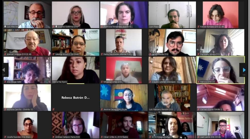 Histórico: 100 candidatos constituyentes exigen destitución de Piñera y Gobierno Provisional