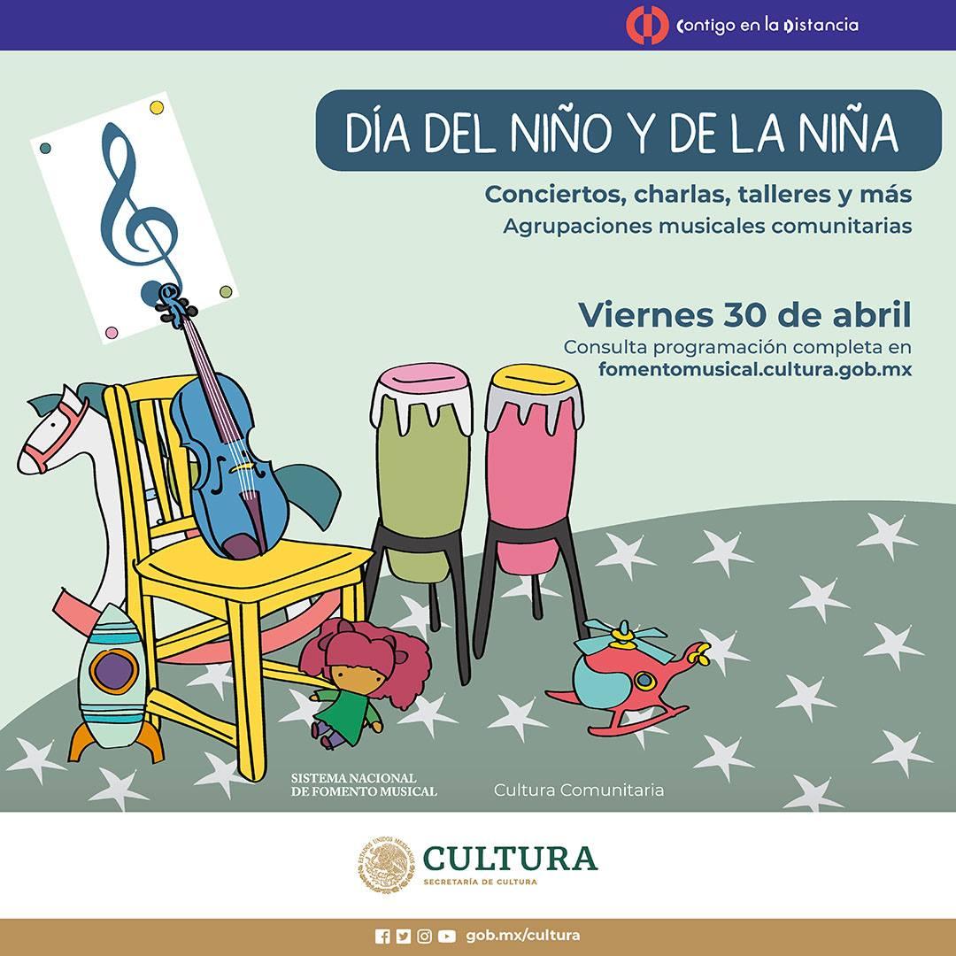Niños celebran su día con música