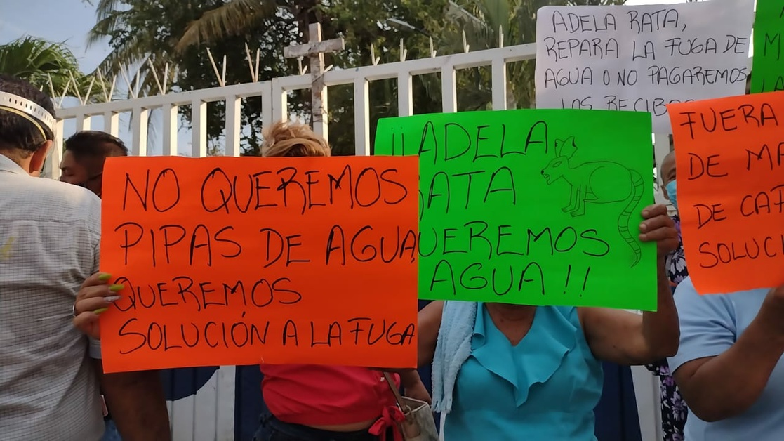 Habitantes de Acapulco tomaron las instalaciones  de rebombeo de agua potable