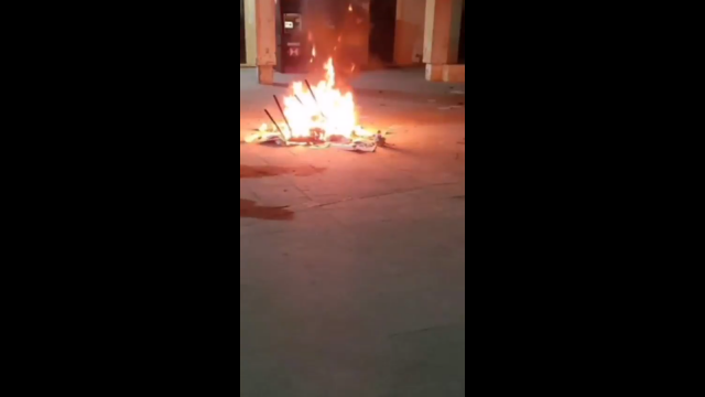 Disturbios en palacio municipal de tlacotepec