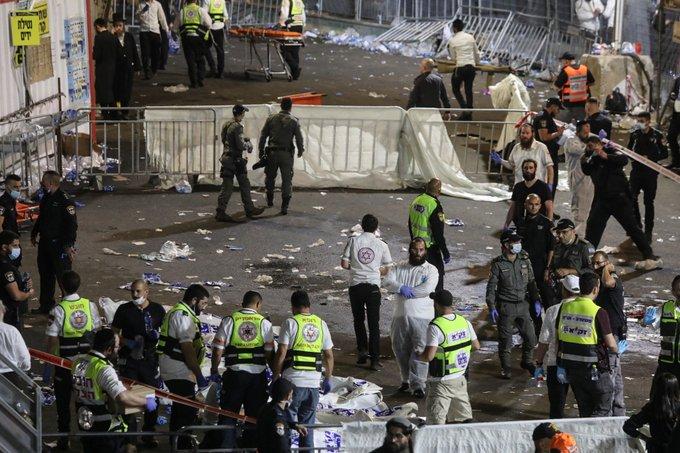 tragedia en israel estampida