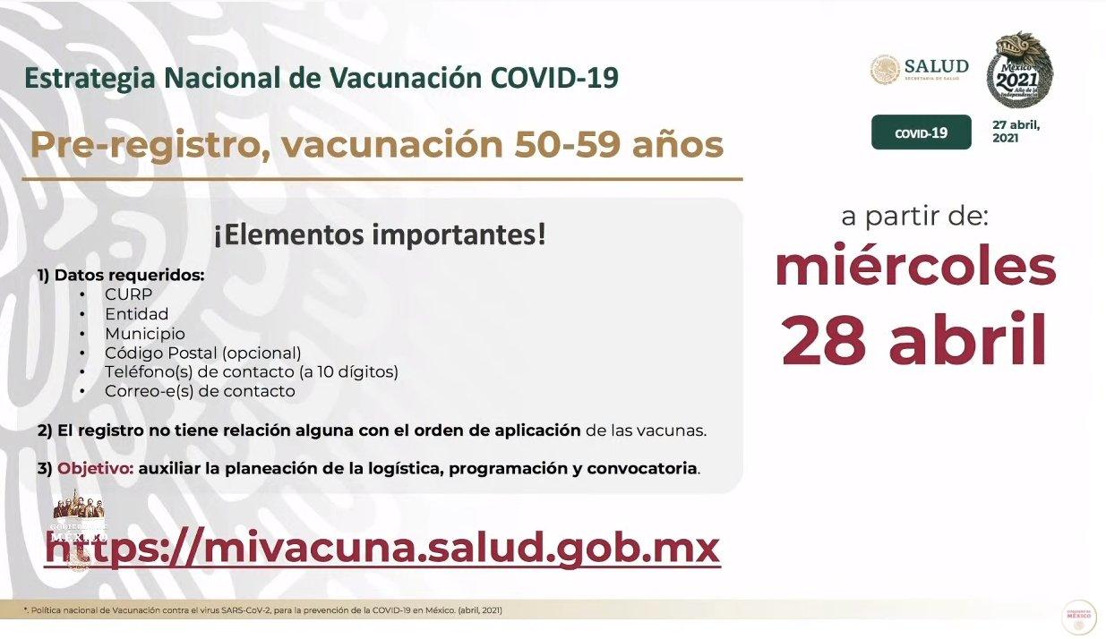Si tienes entre 50 y 59 años es turno de vacunarte contra el Covid
