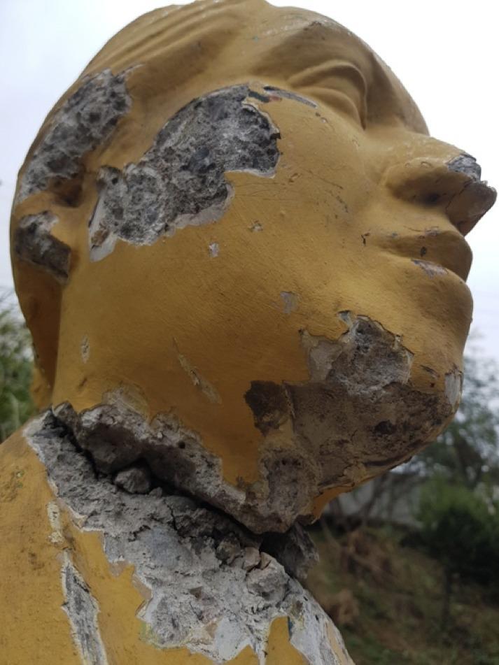 Valparaíso: Interponen denuncia en Fiscalía por vandalización de busto de Gabriela Mistral