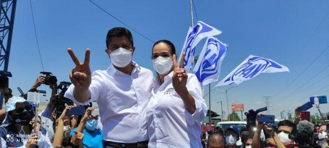 El panista Eduardo Rivera arrancó su campaña en busca de la alcaldía de Puebla