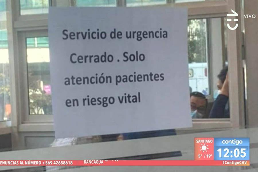 Hospital Clínico UC Christus confirma 99 % de ocupación de camas y atención sólo a pacientes con riesgo vital