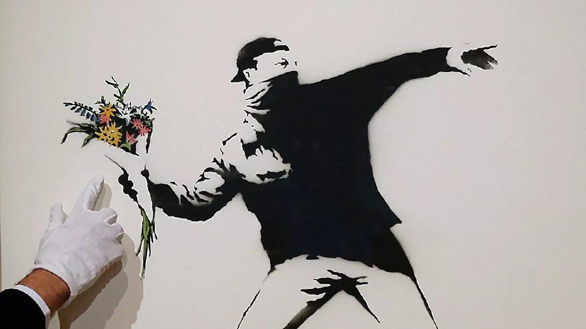 Subastan por primera vez obra de Banksy en criptomonedas