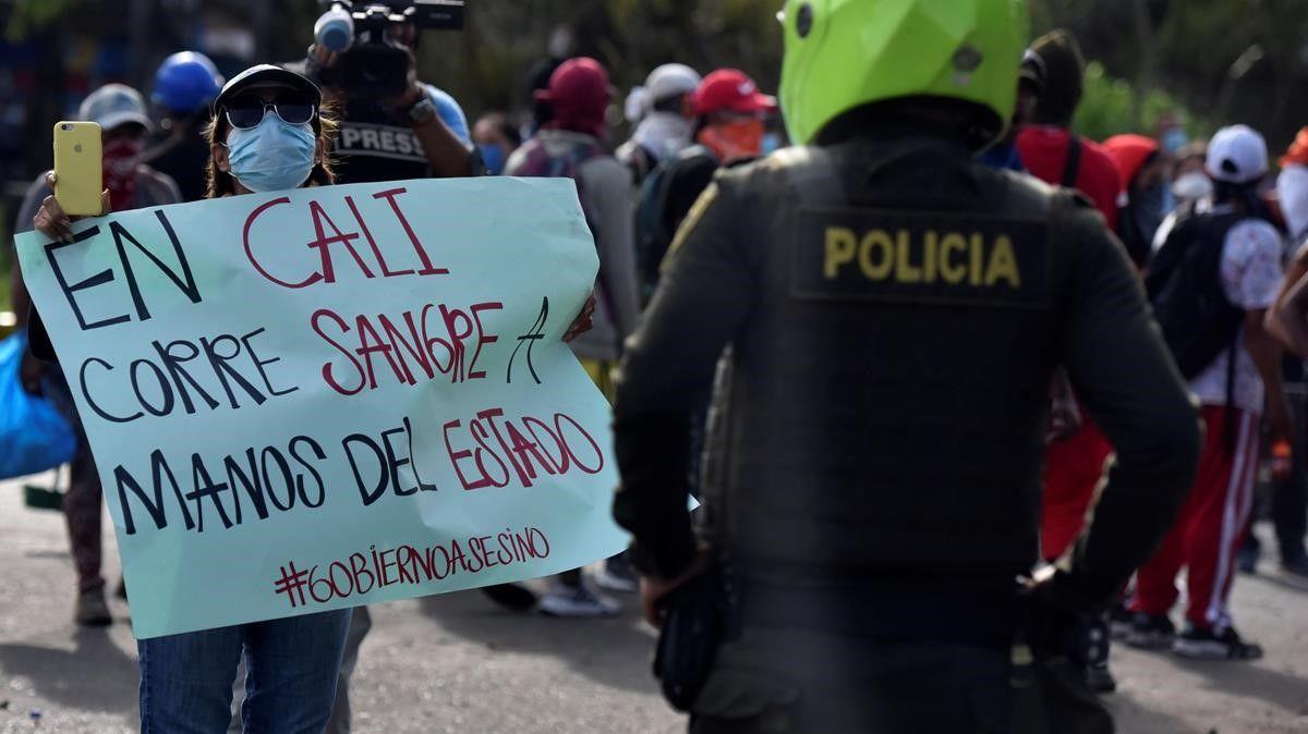 Reportan 87 casos de violencia de género durante protestas en Colombia