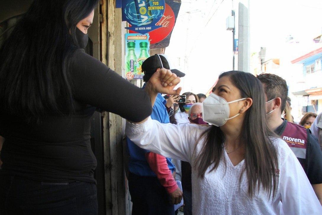 La presidenta municipal Claudia Rivera inició su campaña con retraso debido al registro del Instituto Electoral del Estado de Puebla
