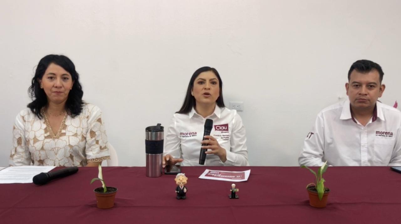 """""""No es su dinero, es del pueblo"""", critica Claudia Rivera al PAN por negarse a aportar para el debate"""