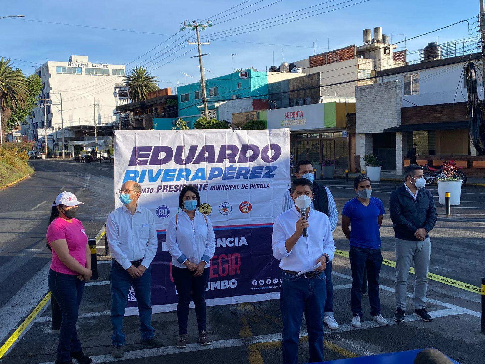 """Eduardo Rivera lanza guiño a Barbosa; """"trabajaré con todos los órdenes de gobierno"""", dice"""