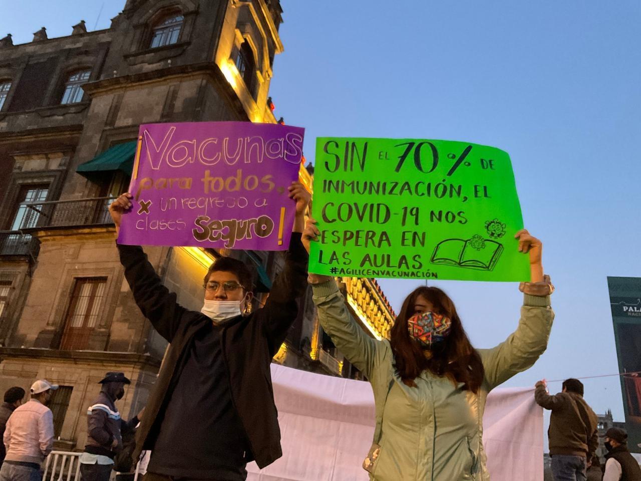 Demanda Frente de Estudiantes vacunas