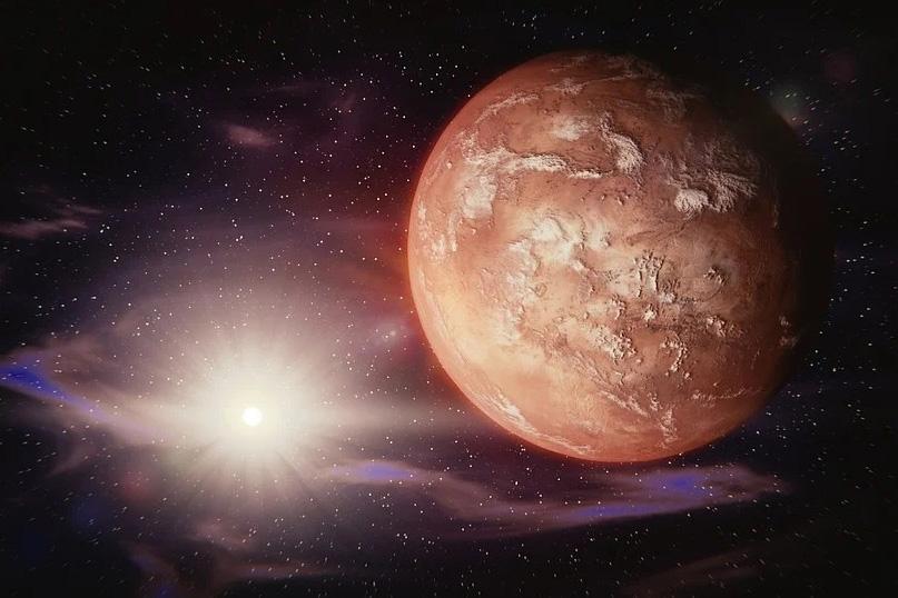 Encuentran signos de glaciares en una llanura de Marte