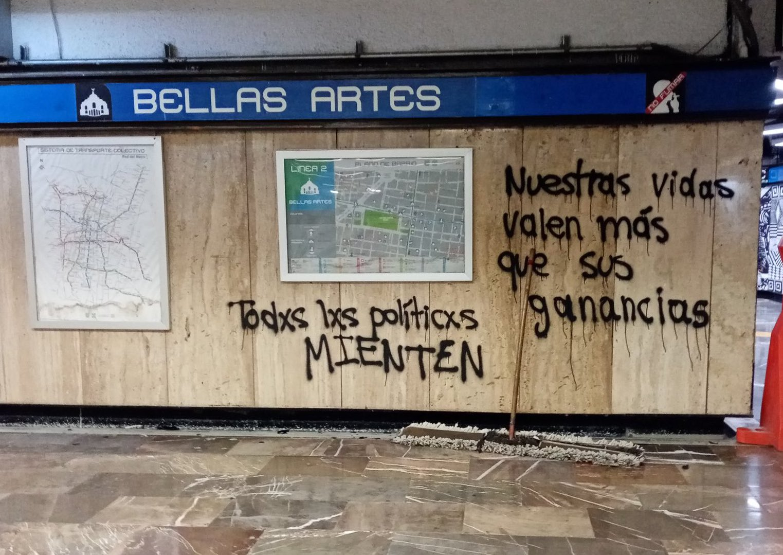 Protestas tras el accidente del metro