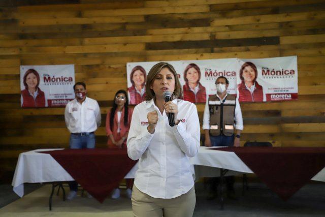La candidata de Morena a la gubernatura de San Luis Potosí, Mónica Rangel