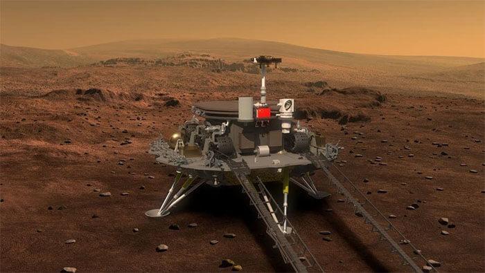 Histórico: Sonda espacial china logró posarse sobre Marte