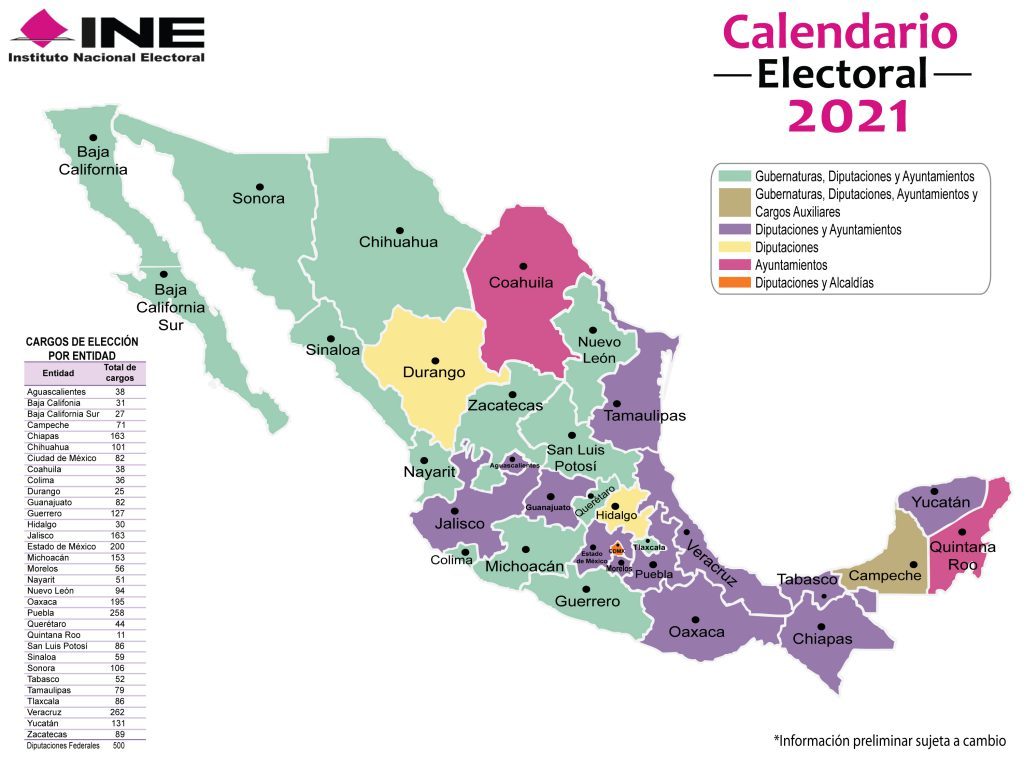 Así van gubernaturas en la República en estas Elecciones México 2021, según PREP