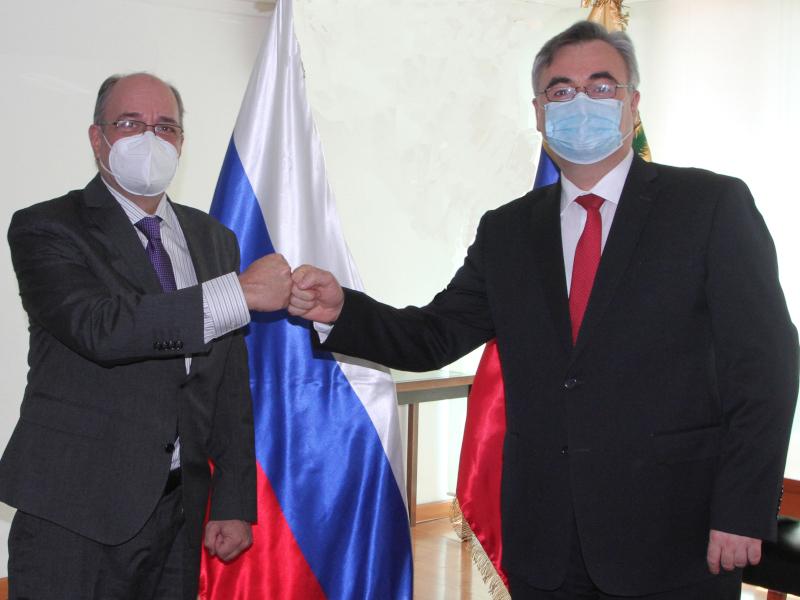 Presidente del CNE de Venezuela recibió visita del embajador de la Federación Rusa
