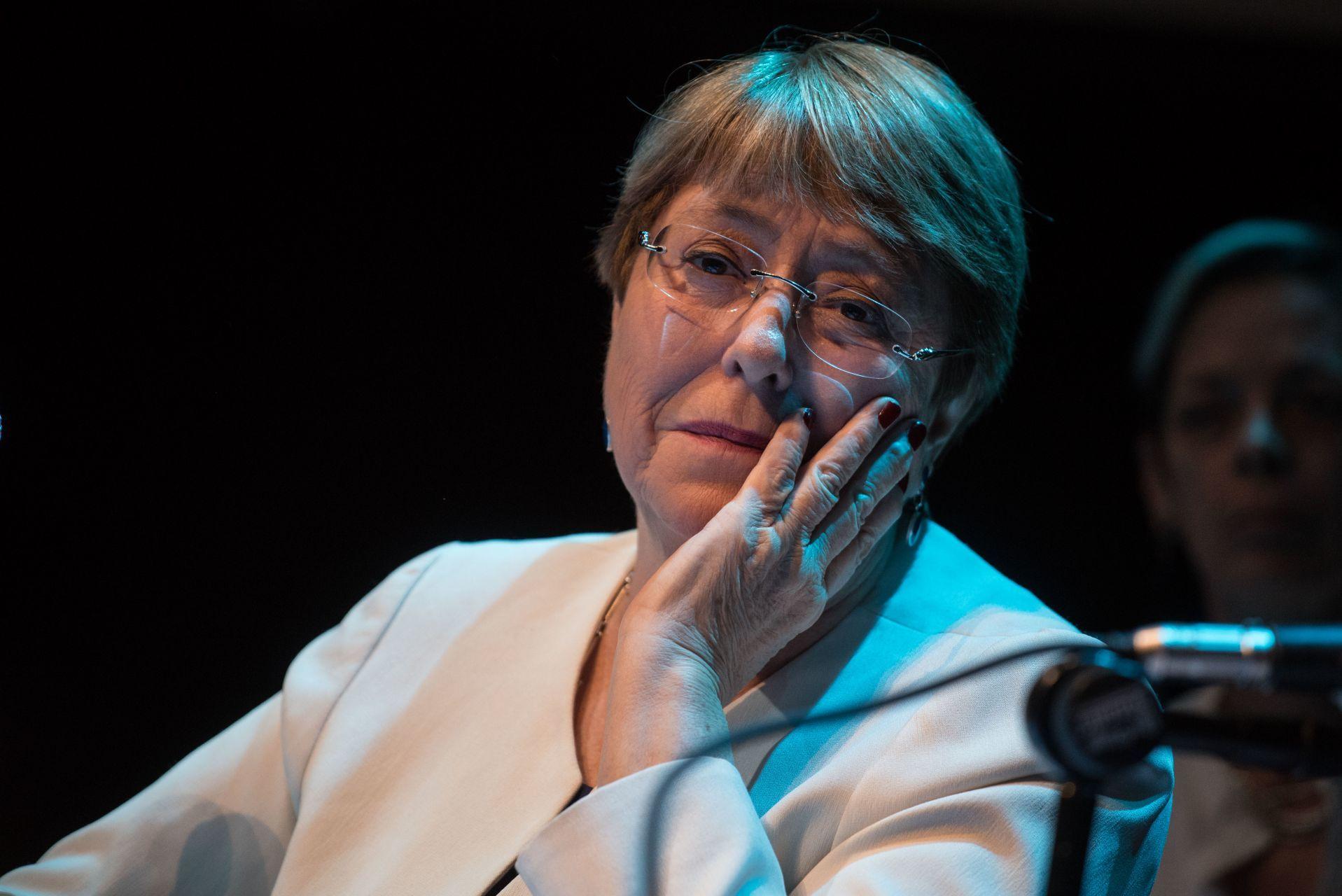 CIUDAD DE MÉXICO, 09ABRIL2019.- Michelle Bachelet, Alta Comisionada de las Naciones Unidas (ONU), presentó esta tarde su declaración en el auditorio del Centro Cultural España con motiva de su visita a México. FOTO: MARIO JASSO /CUARTOSCURO.COM