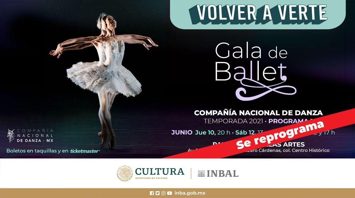 Reprograman gala de ballet en Palacio de Bellas Artes