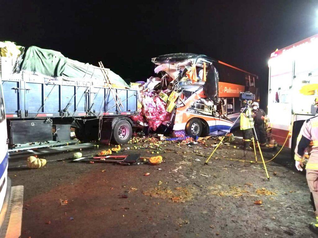 Accidente en la Ruta 5 Norte de Chañaral dejó saldo de cinco fallecidos y más de 20 heridos