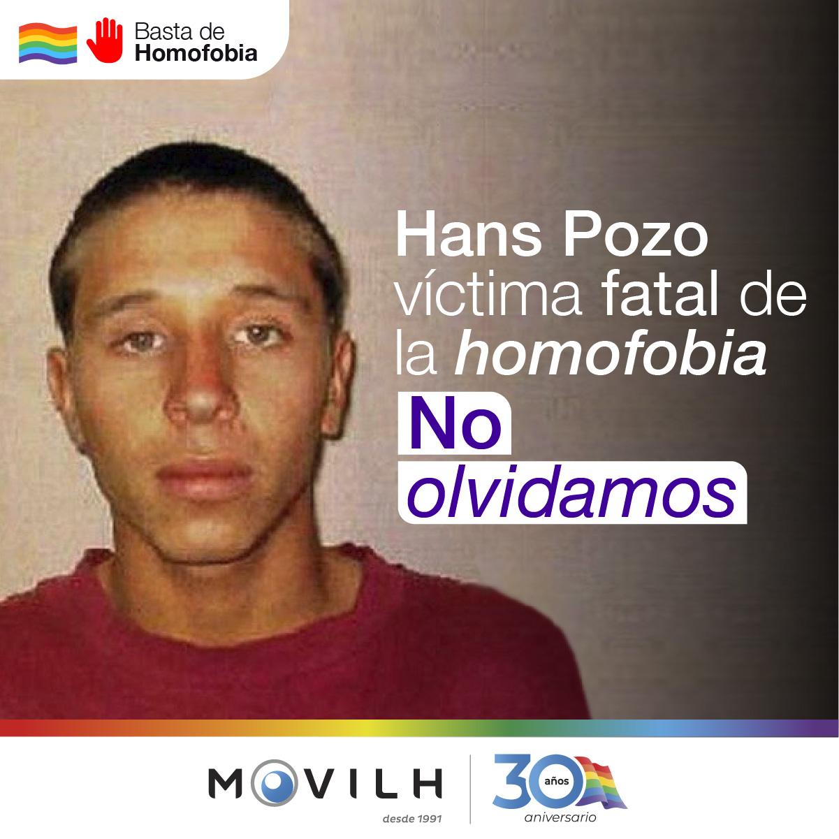 Movilh incluye a Hans Pozo en listado de víctimas fatales de la homofobia en Chile