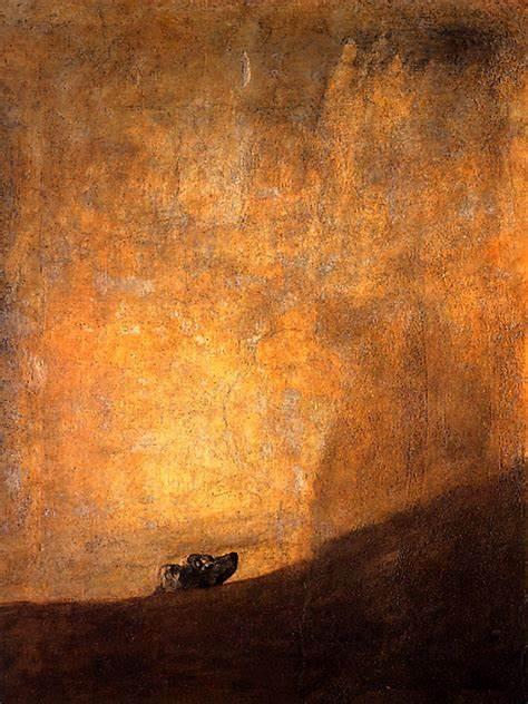 Perro Semihundido, por Francisco de Goya