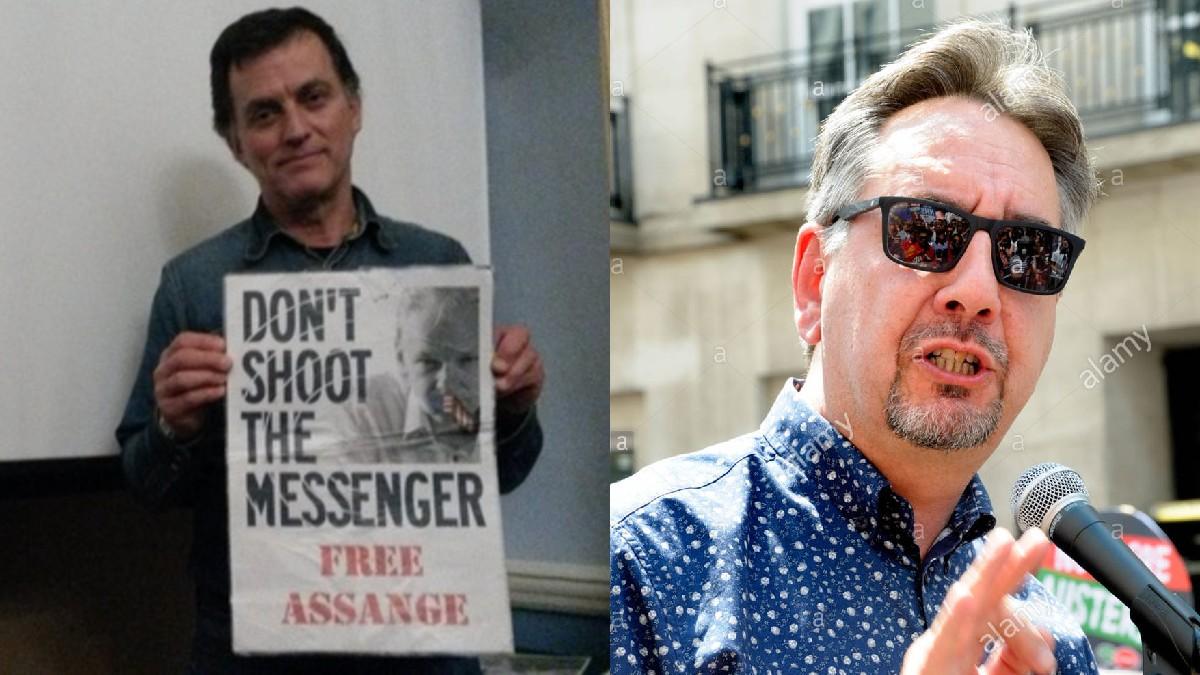 Activistas Alberto Zerda y John Rees exponen su apoyo a Julian Assange
