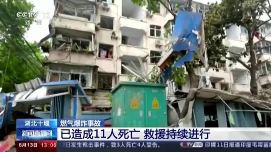 12 muertos y 100 heridos por explosión de tubería de gas en China
