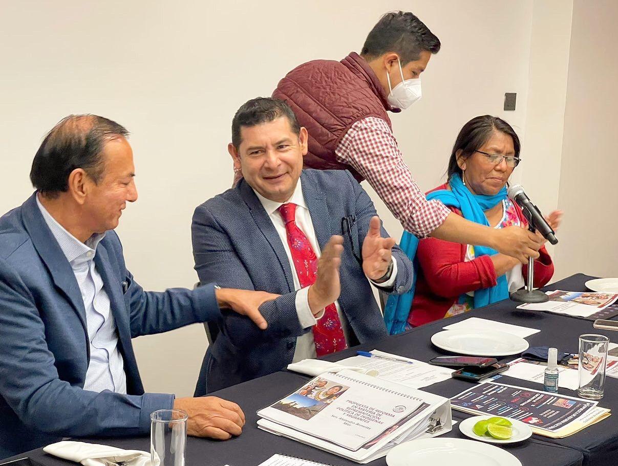Impulsa Alejandro Armenta reforma para participación de indígenas y migrantes en procesos políticos en México