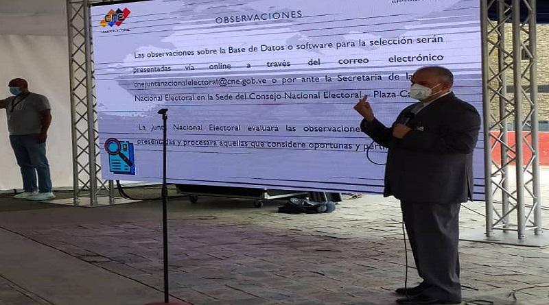 CNE presentó proceso de selección de integrantes de organismos electorales subalternos