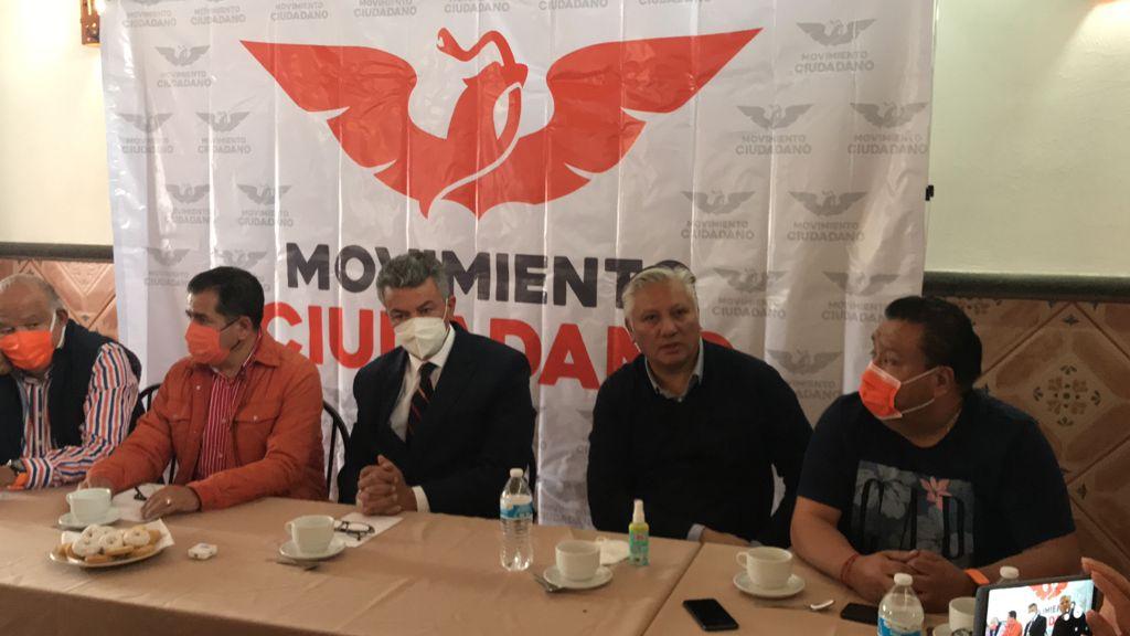 Dirigentes de Movimiento Ciudadano en Puebla