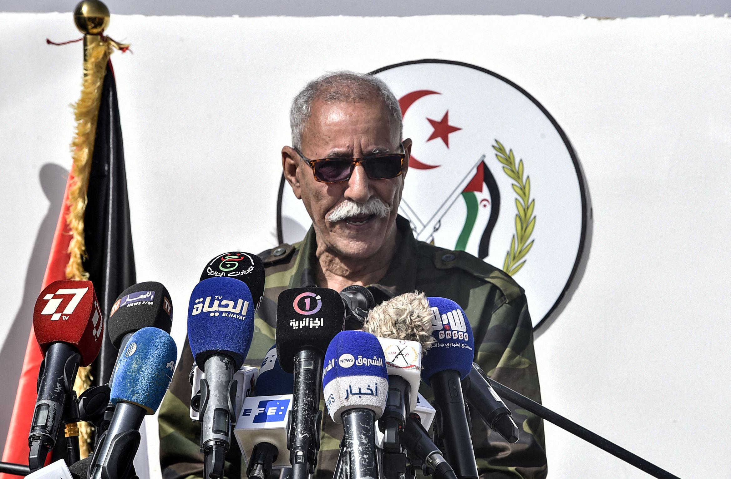 Líder del Frente Polisario abandona España para regresar a Argelia