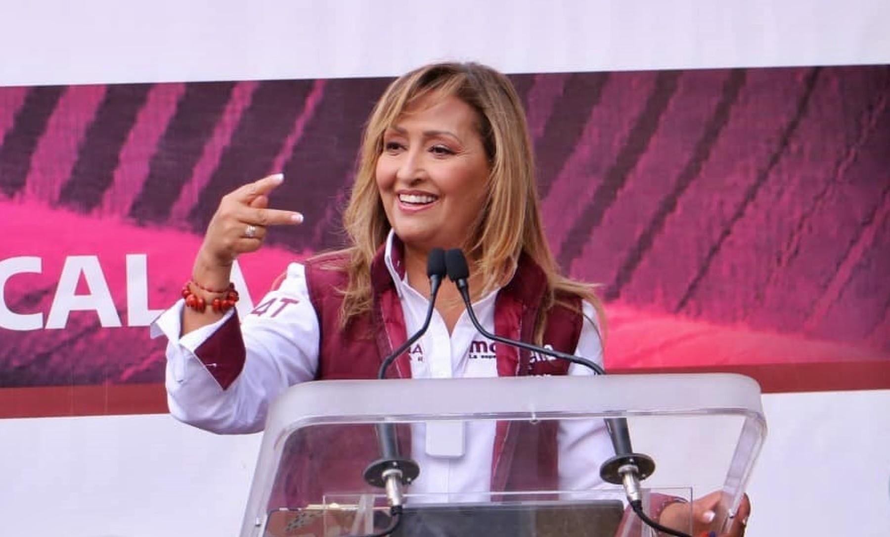 Aún aventaja Lorena Cuéllar Cisneros para gubernatura de Tlaxcala