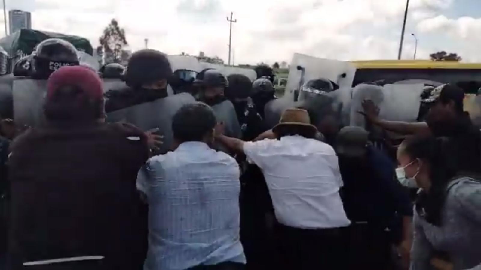 Manifestación en San Andrés Cholula