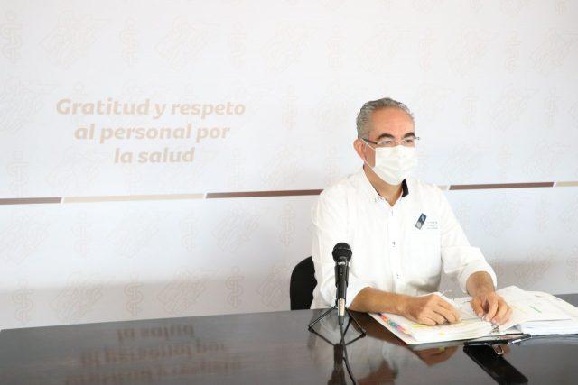 El secretario de Salud en Puebla