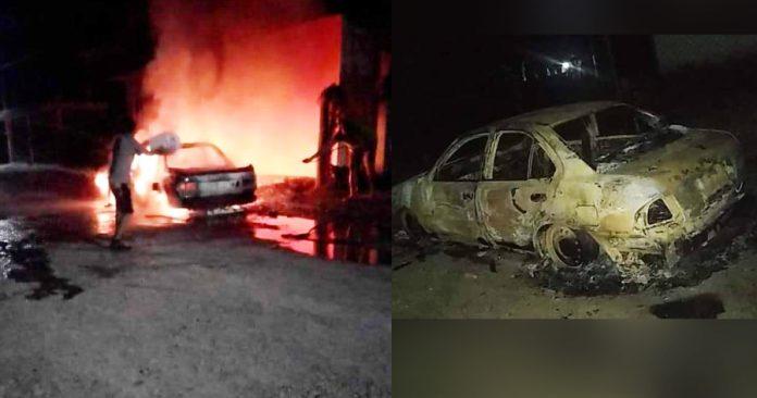 Incendian tres vehículos y golpean a equipo de candidata tamaulipeca