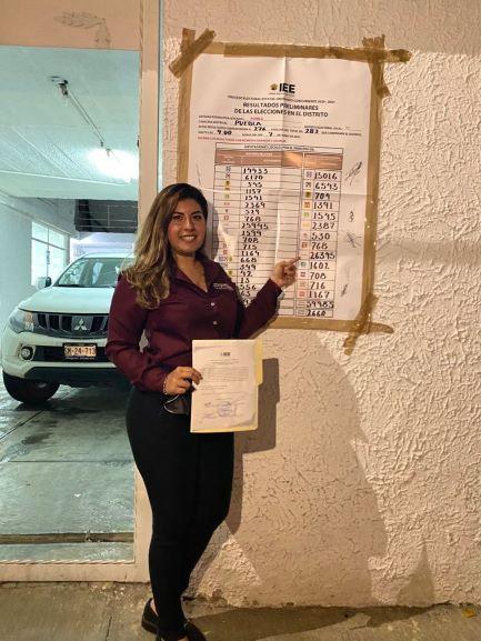 Confirma IEE triunfo de Xel Arianna en distrito local 11 de Puebla