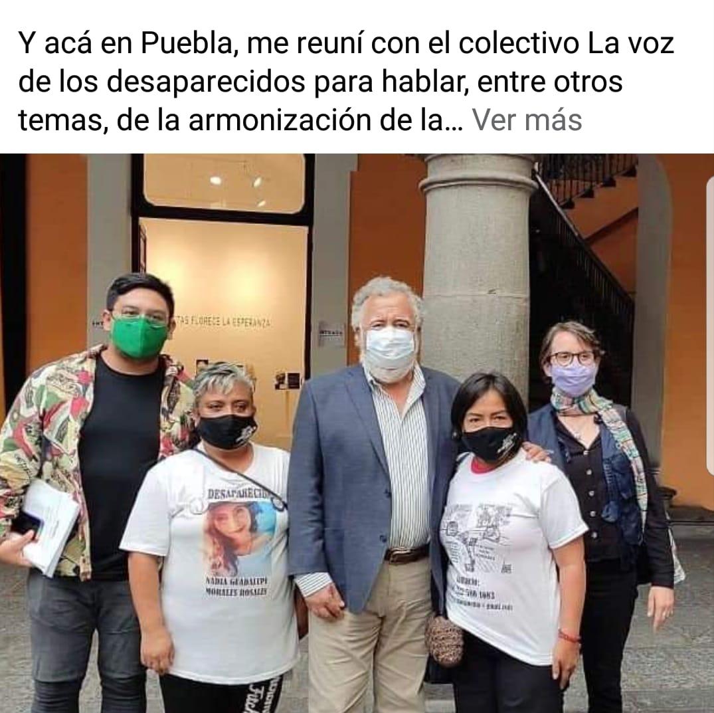 Después de reunirse con el gobernador, Alejandro Encinas visita al colectivo Voz de los Desaparecidos